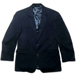JOS A BANK Men's Camel Hair Navy Blazer Jacket 41R